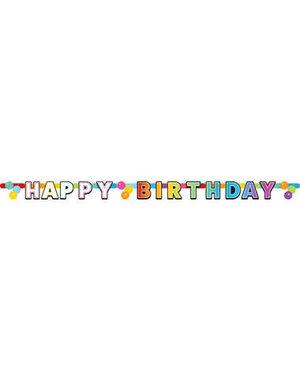 Versiering Letterslinger Happy Birthday Rainbow