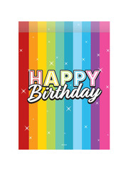 Versiering Uitdeelzakjes Happy Birthday Rainbow