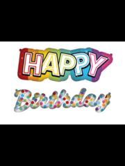 Versiering Folieballonnen Happy Birthday Rainbow