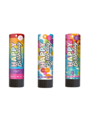 Versiering Confetti Kanonnen Happy Birthday Rainbow  - 3stuks
