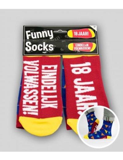 Sokken Funny Socks - 18 Jaar