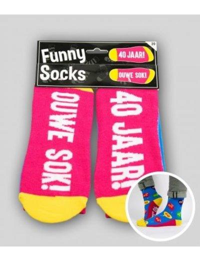 Sokken Funny Socks - 40 Jaar