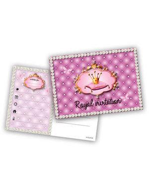 Prinsessen Prinsessen Uitnodigingen - 6stk