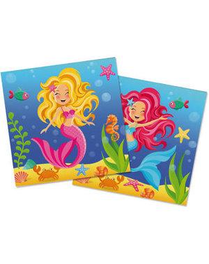 Mermaid Mermaid Servetten - 20stk