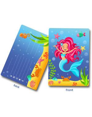 Mermaid Mermaid Uitnodigingen - 8stk