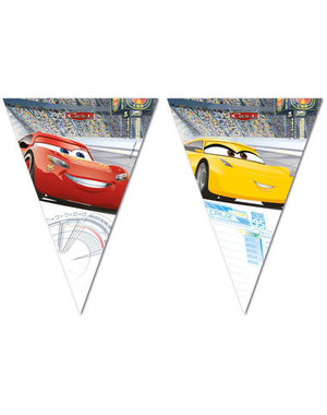 Tafelservies Cars 3 Vlaggenlijn - 2mtr