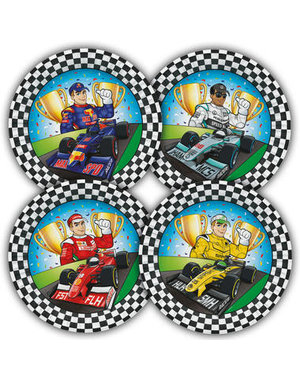 Tafelservies Formule 1 Bordjes - 8stk