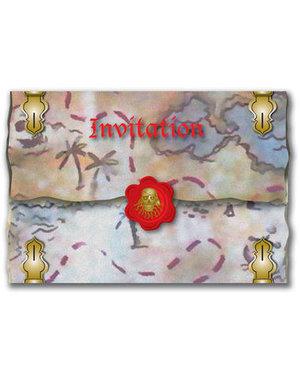 Uitnodigingen Piraten Uitnodigingen - 8stk