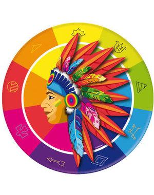 Tafelservies Indianen  Bordjes - 8stk