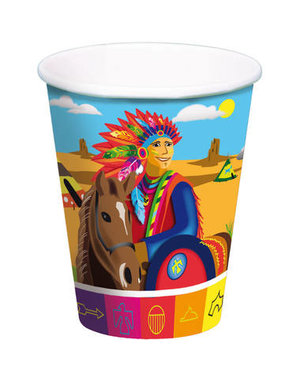 Tafelservies Indianen  Bekertjes - 8stk