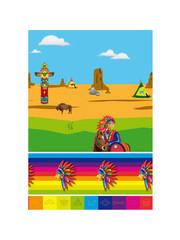 Tafelservies Indianen  Tafelkleed - 130x180cm
