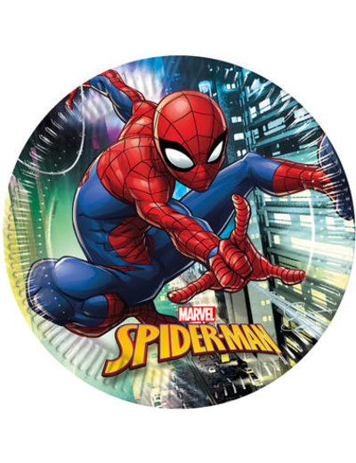 Tafelservies Spiderman Team Bordjes - 8stk
