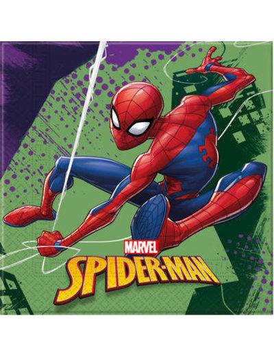Tafelservies Spiderman Team Servetten - 20stk