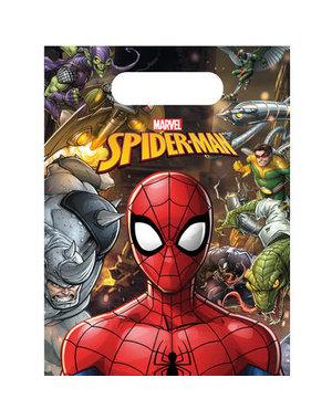 Uitdeelzakjes Spiderman Team Traktatiezakjes  - 6stk