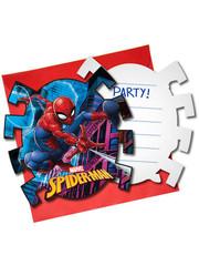 Uitnodigingen Spiderman Team Uitnodigingen  - 6stk