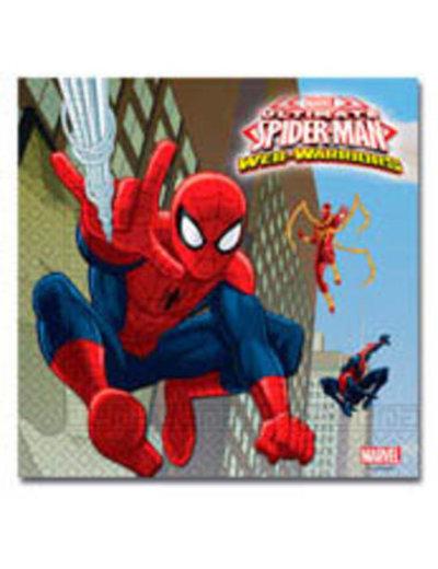 Tafelservies Spiderman Warrior Servetten - 20stk