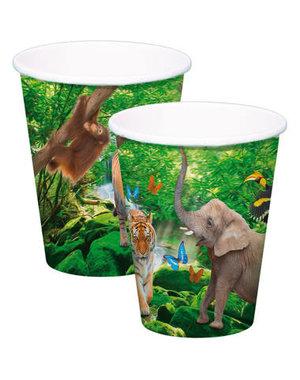 Tafelservies Safari Bekertjes - 8stk