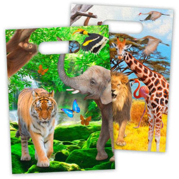 Uitdeelzakjes Safari Traktatiezakjes  - 8stk