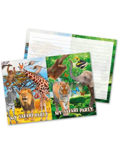 Uitnodigingen Safari Uitnodigingen  - 8stk
