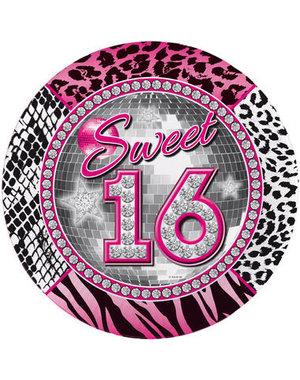 Tafelservies Sweet 16 Bordjes - 8stk