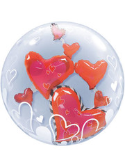 Ballon Bubbles Balloon Hearts