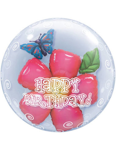 Ballon Bubbles Balloon Happy Birthday Flower