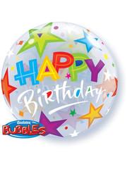 Ballon Bubbles Balloon Happy Birthday Stars