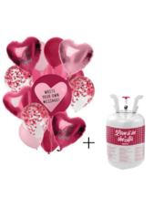 Helium Tank Set Love