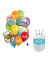 Helium Tank Set Happy Birthday