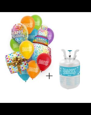 Helium Tank Set Happy Birthday