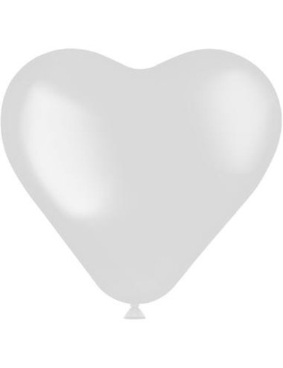 Knoopballonnen Ballon Hart Coconut White Mat - 8stk