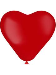 Knoopballonnen Ballon Hart Ruby Red Mat - 8stk