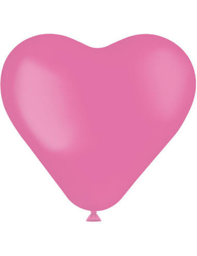 Knoopballonnen Ballon Hart Rosey Pink Mat - 8stk