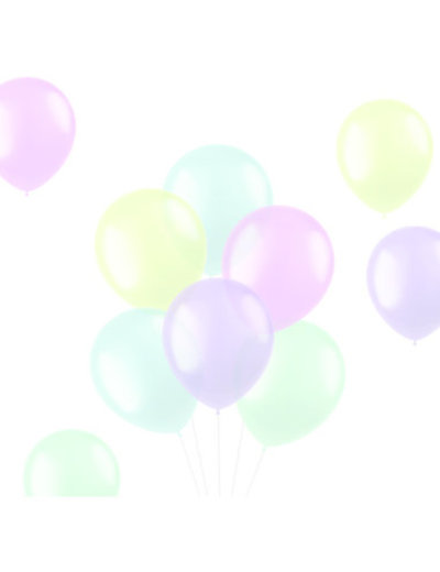 Ballonnen Translucent Pastel Mix - 10, 50, 100stk