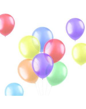 Ballonnen Translucent Bright Mix - 10, 50, 100stk