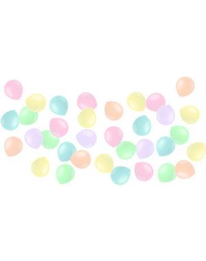 Ballonnen Mini Powder Pastel Mix - 50stk