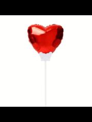 Folieballon Folieballon Hart Rood Mini incl Kaartje - 15cm