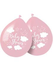 Tafelservies Babyshower Ballonnen Roze - 8 stk