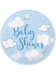 Tafelservies Babyshower Bordjes Blauw - 8 stk