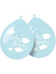 Tafelservies Babyshower Ballonnen Blauw - 8 stk