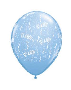 Ballonnen It's a Boy 13cm - 100stk  Qualatex