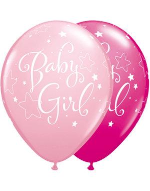 Ballonnen Baby Girl - 25stk  Qualatex