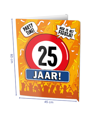 Versiering Window Sign - 25 Jaar