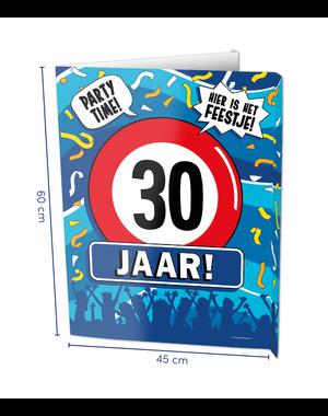 Versiering Window Sign - 30 Jaar
