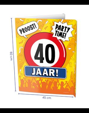 Versiering Window Sign - 40 Jaar