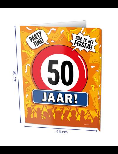 Versiering Window Sign - 50 Jaar