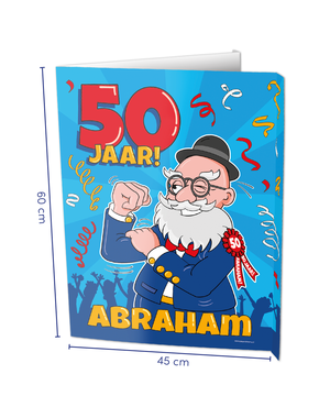 Versiering Window Sign - Abraham
