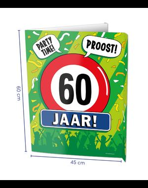 Versiering Window Sign - 60 Jaar