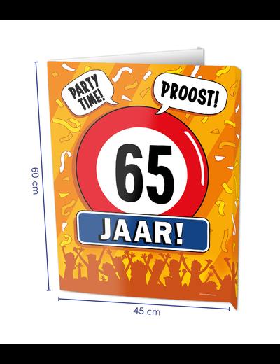 Versiering Window Sign - 65 Jaar