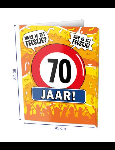 Versiering Window Sign - 70 Jaar